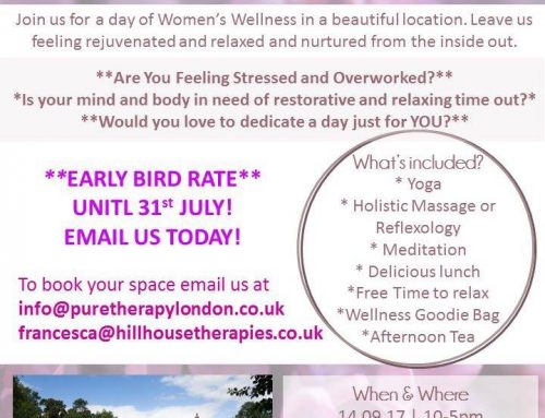 Upcoming event – Relax & Nourish